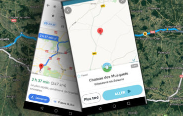 apparaître sur les apps GPS